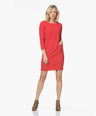 Josephine & Co Juna Straight Crepe Jersey Dress - Red