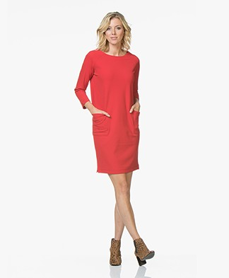Josephine & Co Juna Straight Crepe Jersey Dress - Red