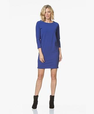 Josephine & Co Juna Straight Crepe Jersey Dress - Royal Blue