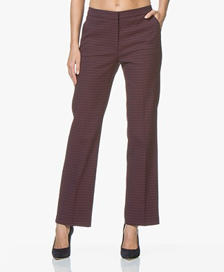 no man's land Jacquard Pants - Dark Amethyst