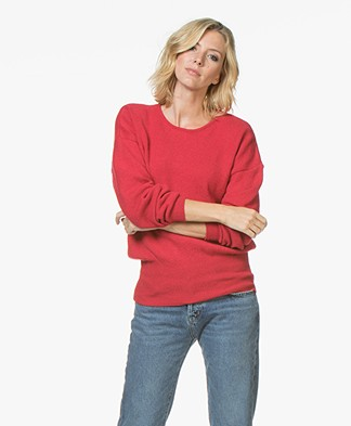 Sibin/Linnebjerg Agnes Sweater with Cashmere - Red
