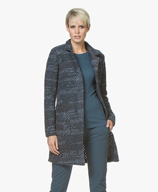 Belluna Living Boucle Knitted Cardigan - Jeans