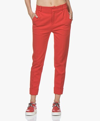 Drykorn Emom Ponte Jersey Cropped Pants - Red