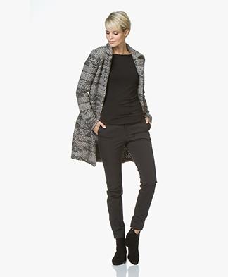 Belluna Living Bouclé Knitted Cardigan - Taupe