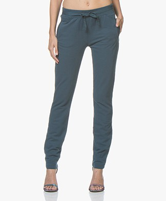 BY-BAR Jette Cotton Blend Sweat Pants - Oil Blue