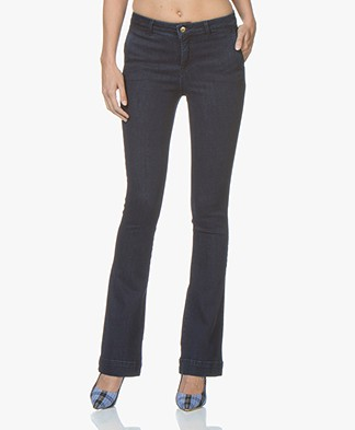 BY-BAR Leila Flared Stretch Jeans - Donkerblauw