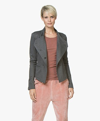 Drykorn Elim Double-Breasted Jersey Blazer - Grey