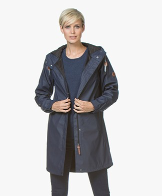 indi & cold Medium-length Raincoat - Marino