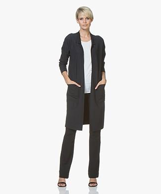 JapanTKY Oniyi Reversible Open Blazer Cardigan - Black/Black Blue