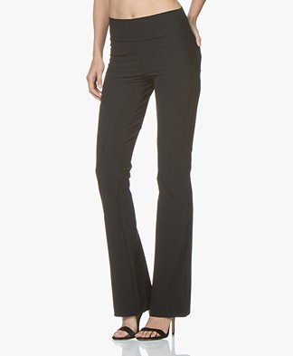 JapanTKY Zaya Flared Pants in Italian Jersey - Black