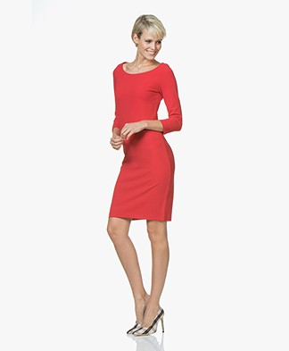 Josephine & Co Jacobien Crepe Jersey Dress - Red