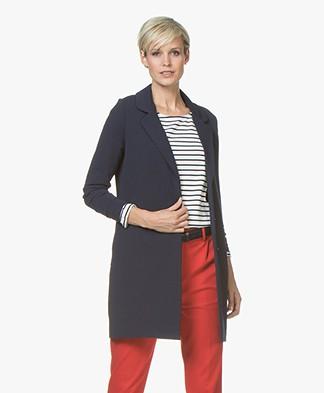 Josephine & Co Judita Long Crepe Jersey Blazer - Navy