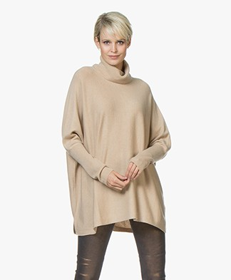 Repeat Wool and Cashmere Oversized Turtleneck Sweater - Camel