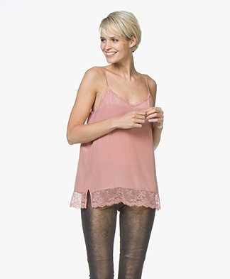 Repeat Silk and Lace Camisole - Dusty Rose