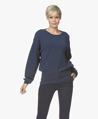 Sibin/Linnebjerg Agnes Sweater with Cashmere - Navy