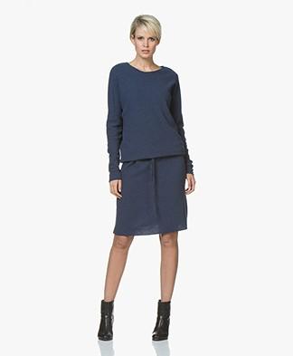 Sibin/Linnebjerg Elinor Moss Knit Merino Wool Blend Dress - Navy