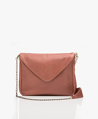 BY-BAR Run Leather Shoulder Bag - Rust