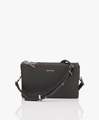 Matt & Nat Triplet Dwell Cross-Body Tas - Zwart