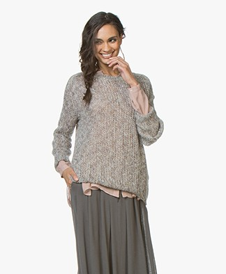 indi & cold Multicolored Knitted Sweater - Humo