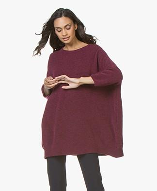 American Vintage Malawood Oversized Sweater - Indian Pink Melange