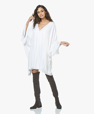 BRAEZ Doris Oversized Dress in Satin - White