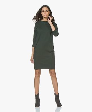 BY-BAR Jikke Tweed Look Sweater Dress - Dark Green