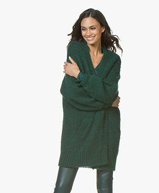 BY-BAR Mirjam Oversized Open Vest - Groen