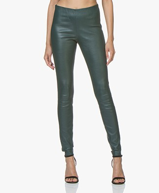 By Malene Birger Elenasoo Leather Leggings - Botanical Garden