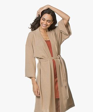 Filippa K Soft Sport Cashmere Kimono - Camel Melange
