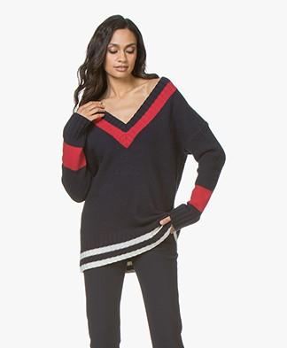 Josephine & Co Jorin V-neck Pullover - Navy
