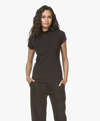 no man's land Turtleneck T-shirt - Core Black