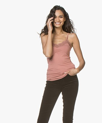 no man's land Lace Camisole - Sienna