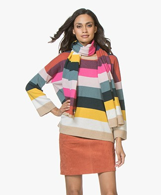 Repeat Cashmere Gestreepte Sjaal - Multi-color