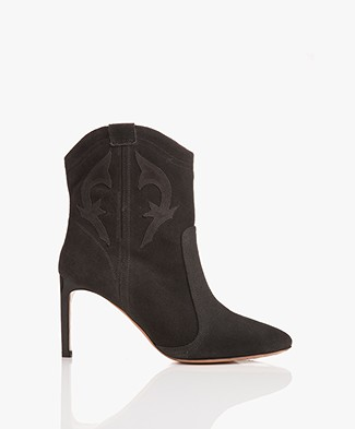 ba&sh Caitlin Suede Ankle Boots - Grey