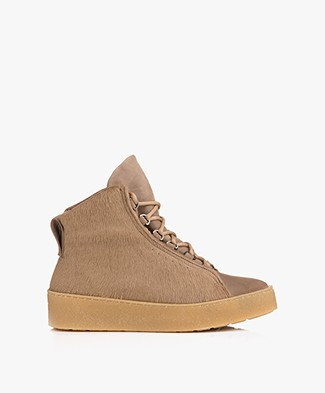 Filippa K Anna Winter Laced Booties - Camel Fur