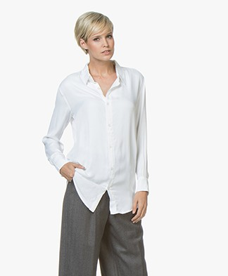 BRAEZ Shaq Viscose Satin Blouse - White