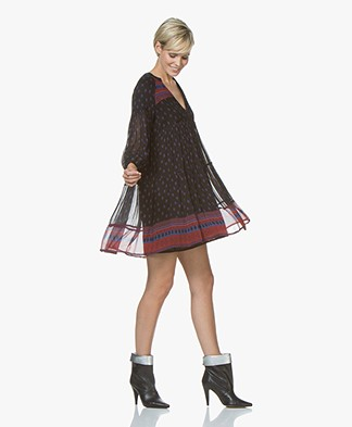 ba&sh Bailey Print Dress - Black