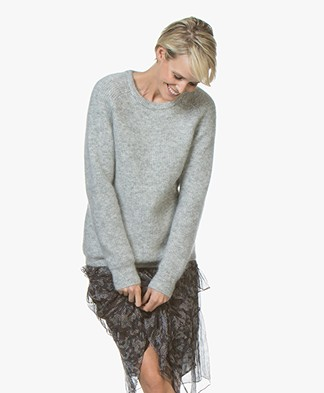 Marie Sixtine Elora Mohair Blend Sweater - Cloud