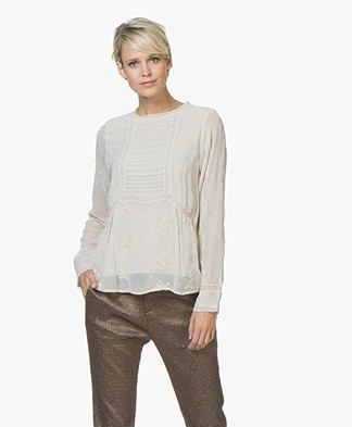 indi & cold Blouse with Embroidery - Piedra