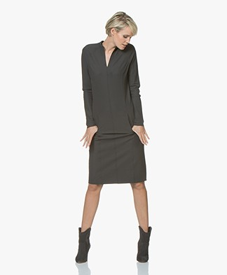 JapanTKY Junyo Travel Jersey Dress - Anthracite