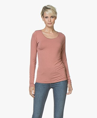 no man's land Viscose Round Neck Long Sleeve - Sienna