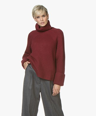 ba&sh Nagora Wool Blend Turtleneck - Burgundy