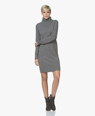 BOSS Wabellena Fine Knitted Turtleneck Dress - Charcoal