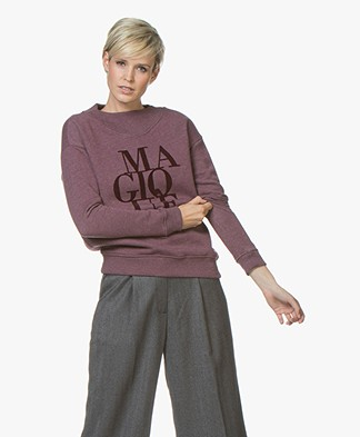 BY-BAR Jikke Magique Print Sweater - Wine