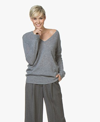 Closed Cashmere V-hals Pullover - Heather Grijs