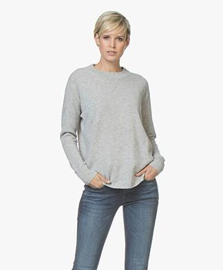 Denhem Clarence Pure Cashmere Sweater - Sword Grey Melange