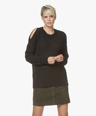 Drykorn Florence Cold-shoulder Sweater - Black