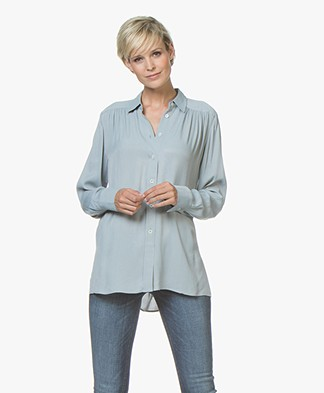 Filippa K Feminine Blouse - Dove Blue