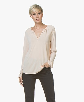 Filippa K Sheer Crêpe Blouse - Porcelain