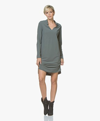 JapanTKY Kibou Travel Jersey Dress - Army Green